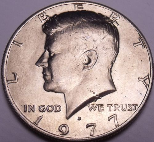 United States Unc 1977-D Kennedy Half Dollar~Free Shipping