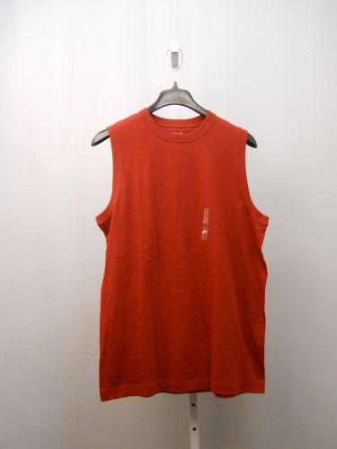 SIZE L Mens Muscle Tee Shirt ROUNDTREE & YORKE SPORT 100% Cotton Solid Red