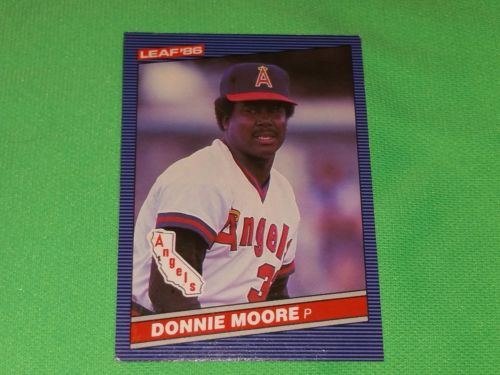 RETRO DONNIE MOORE ANGELS 1986 Leaf Baseball GD-VG