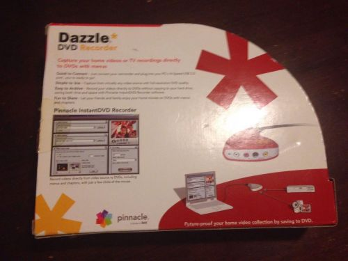 Pinnacle boxed Dazzle DVC 100 USB S Video PC DVD capture recorder RED REV 1.1