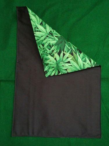 Set of four (4) handmade cloth placemats Cannabis Herb Marijuana 100% Cotton