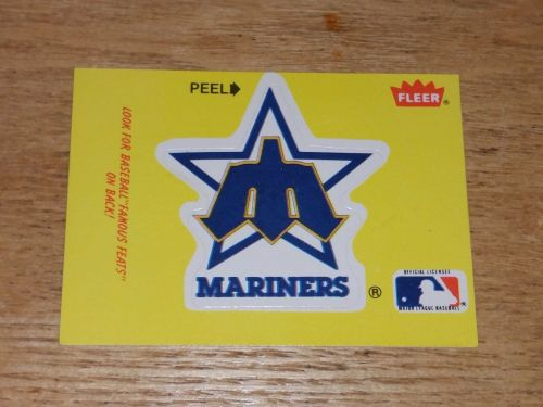 VINTAGE Seattle Mariners 1986 FLLER LIMITED EDITION STICKERS NMNT-MNT