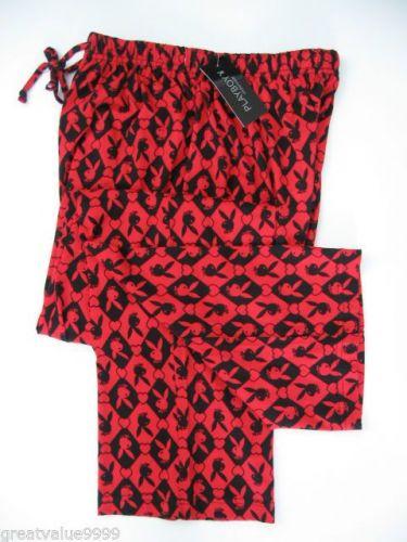 A0045 Playboy NEW Men's Knit Hearts and Rabit Head Long Sleep Pant PC02PL PC04PL