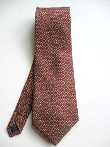 A0475 Kuppenheimer NEW Italian Silk Diamond Pattern Classic Neck Tie Made In USA
