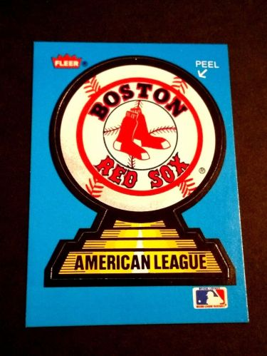 VINTAGE BOSTON RED SOX FLEER COLLOECTORS STICKER GD-VG