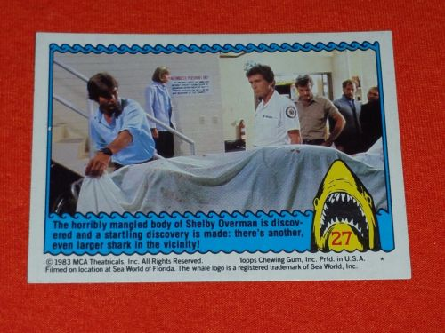 RETRO JAWS IN 3-D 1983 MCA COLLECTORS CARD #27 MNT