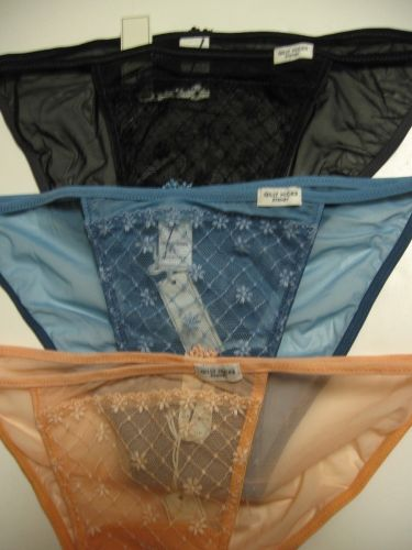 A0094SB Gilly Hicks Sydney Abercrombie NEW Lace On Sheer Mesh Skinny Bikini PR