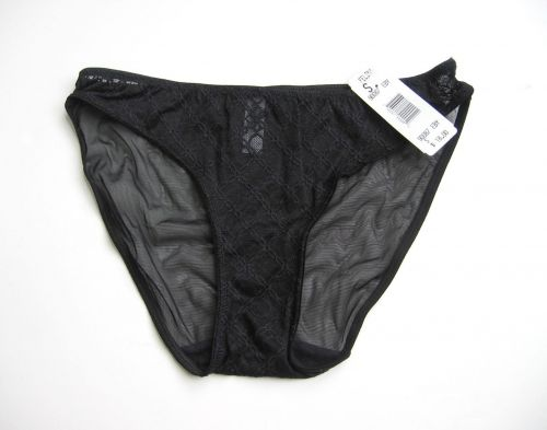 A278HC Felina NEW Women's Black Stretch Sheer Mesh Lace Low Rise Hi-Cut 90087 PR