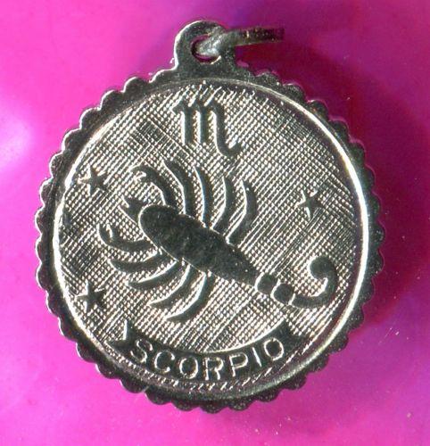 SCORPIO charm E STERLING 925 SILVER ZODIAC HOROSCOPE ASTROLOGY