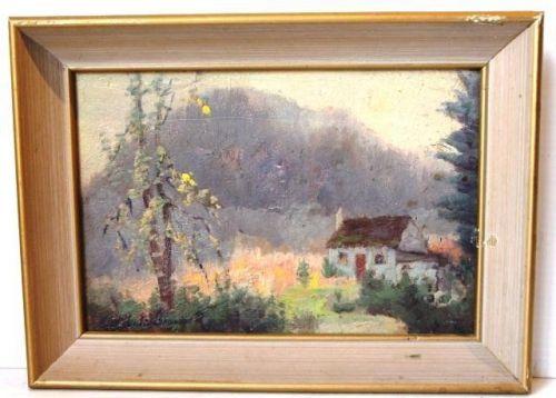 "LISTED ARTIST JOSEPH ARCHIBALD BROWN(CANADIAN,1862-1948) ""ST. MARGUERITE, QUE"""