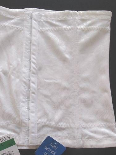 SH004 Flexees NEW Women's Shapewear Waist Nipper Firm Control FO6868 White L PR