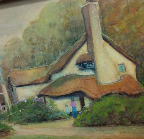 EARLY 20TH CENTURY ENGLISH WATERCOLOR, DATED 1914