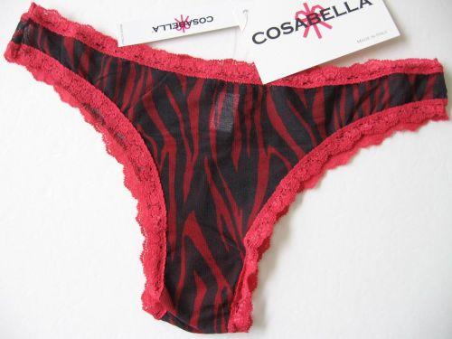 X385 Cosabella NEW CELIP05M Celine Zebra Print Mesh Lace Low Rise Minikini Italy