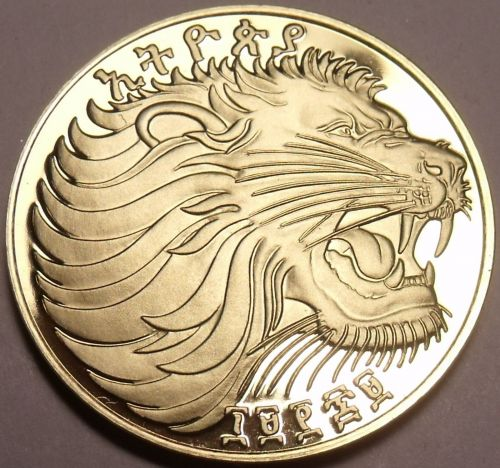 Rare Proof Ethiopia EE-1969 FM Proof 10 Cents~Roaring Lion~Mintage 12,000~Fr/Shi
