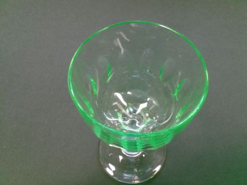 Hand cut Sherry / port glasses Green bowl 4 pieces