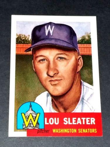 MLB 1991 Topps Archives 1953 Reprint #224 LOU SLEATER INSERT GD-VG
