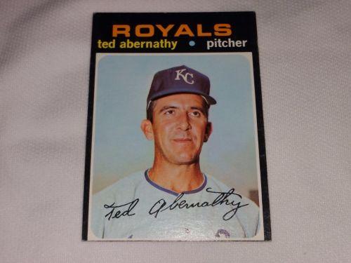 VINTAGE 1971 TOPPS TED ABERNATHY ROYALS BASEBALL #187 GD-VG