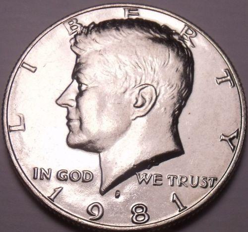 United States Unc 1981-P Kennedy Half Dollar~Free Shipping