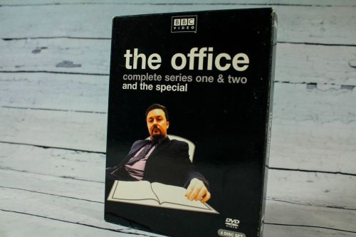 The Office UK BBC Complete Series 1 & 2 Region 1 DVD 4 disc Set Ricky GERVAIS