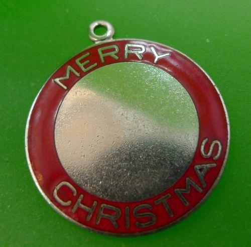 Danecraft Sterling Merry Christmas Red Enamel Charm