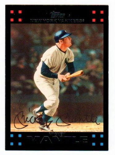 MLB 2007 TOPPS #7 MICKEY MANTLE YANKEES MNT