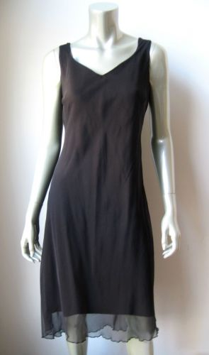 IN007 Believe NEW Black Sheer Chiffon Overlay Stretch Poly Hi-Low Gown Dress 12
