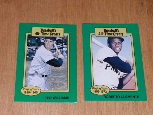 VINTAGE ROBERTO CLEMENTE TED WILLIAMS 1980 TOPPS ALL TIME GREATS LOT GD-VG
