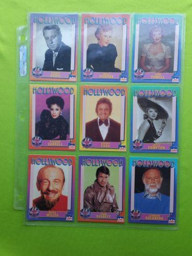 VINTAGE LOT OF 9 1991 STARLINE HOLLYWOOD SUPERSTAR COLLECTORS CARDS LOT #12 GD