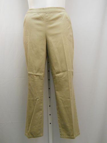 White Stag Women's Casual Pants Size 20P Khaki Elastic Waist Pockets Inseam 28""