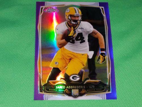 NFL Jared Abbrederis Packers 2014 Topps Chrome Purple Refractor Mnt