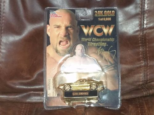 Limited edition Racing Champions WCW Goldberg 24k gold plated Diecast