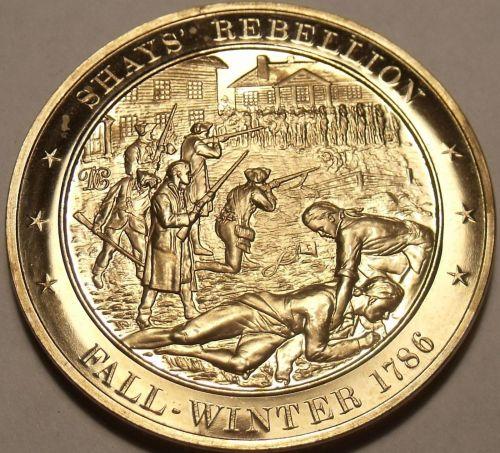 1786~SHAYS REBELLION~RELIGIOUS FREEDOM~MASSIVE FRANKLIN MINT BRONZE~FREE SHIP~