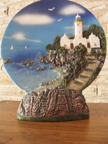 Artisan Crafted Lighthouse 3D Freestanding Integrated Plate and Base
