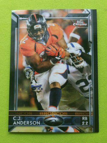 NFL C.J. ANDERSON BRONCOS SUPERSTAR 2015 TOPPS CHROME #48 MNT