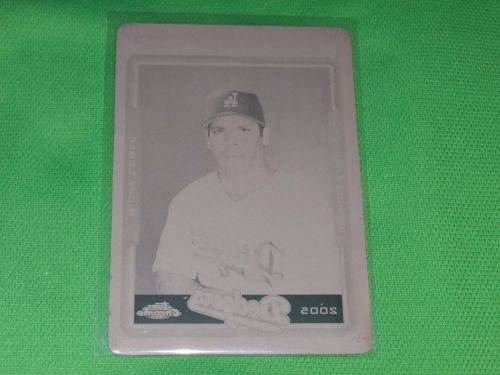 MLB Rickey Ledee Los Angeles Dodgers 2005 Topps Chrome Printing Plate 1/1 MNT