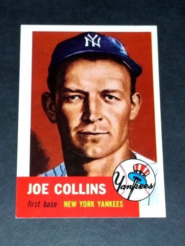 MLB 1991 Topps Archives 1953 Reprint #9 JOE COLLINS YANKEES INSERT GD-VG