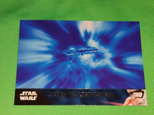 2016 Topps Star Wars jump to lightspeed Collectible Trading Card