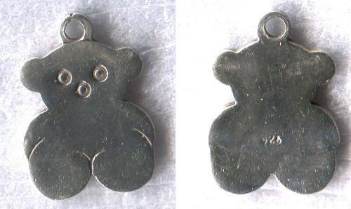 Vintage Sterling 925 Silver FLAT Teddy ( TOUS) Bear Charm