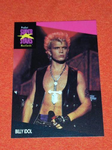 RETRO BILLY IDOL 1992 PROSET ROCK & ROLL COLLECTORS CARD #187 MNT