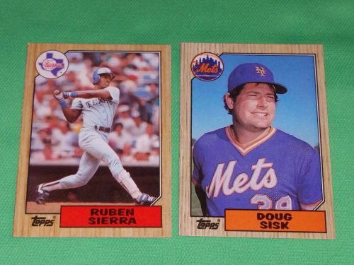 VINTAGE 1987 TOPPS BASEBALL CARD LOT #5 GD-VG