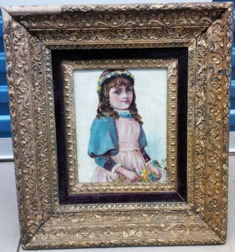 EARLY 20TH CENTURY EUROPEAN SCHOOL PORTRAIT OF A YOUNG GIRL OIL