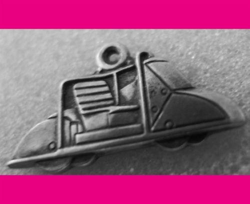 GOLF CART CHARM : 23mm STERLING 925 SILVER w/ HALLMARK