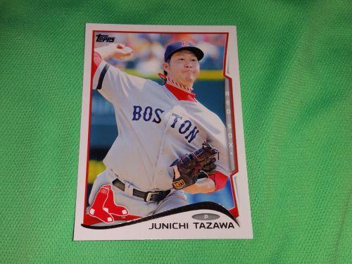 MLB Junichi Tazawa Red Sox Superstar 2014 TOPPS BASEBALL GD-VG