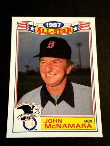 VINTAGE JOHN McNAMARA RED SOX 1987 TOPPS ALL STAR BASEBALL #1/22 GD-VG