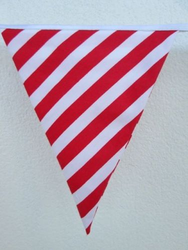 Valentine Hanging Decoration,Red Hearts Mini Fabric Bunting Banner by Yard 35 in
