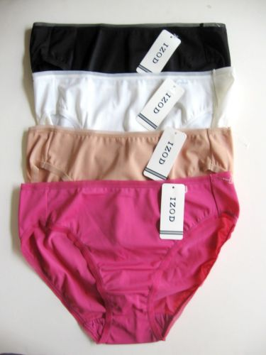 A418H Izod Women's Everyday Silky Smooth Shimmer High-Cut Pantie 42-8122 New Nwt
