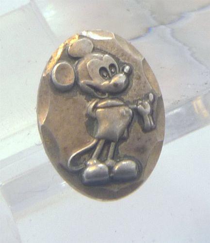 Post Earrings : vintage DISNEY sterling 925 silver Mickey Mouse