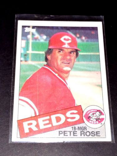 VINTAGE PETE ROSE REDS 1984 TOPPS #600 GD-VG