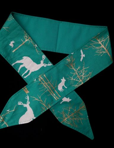 Headband Hair Wraptie Bandana Northern Wildlife Print 100% Cotton hand made