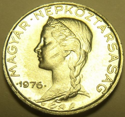 Gem Unc Hungary 1976 5 Filler~Only 50,000 Minted~Free Shipping*